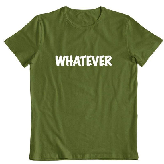 "Daily Steals-""Whatever"" T-Shirt-Men's Apparel-Military Green-S-"