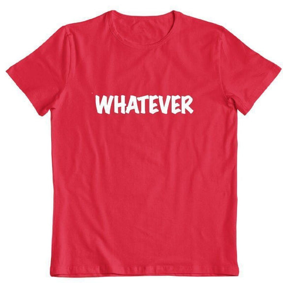"Daily Steals-""Whatever"" T-Shirt-Men's Apparel-Red-S-"