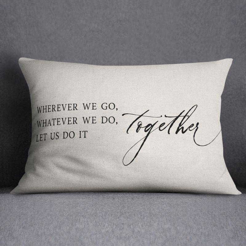 "Wherever We Go - Lumbar Pillow Cover - 20"" x 12""-"