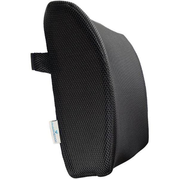 PharMeDoc Lumbar Support Pillow - Adjustable Memory Foam Seat Cushion-Daily Steals