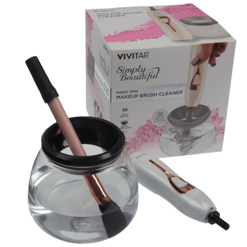 Vivitar Magic Spin Electronic Makeup Brush Cleaner-Daily Steals