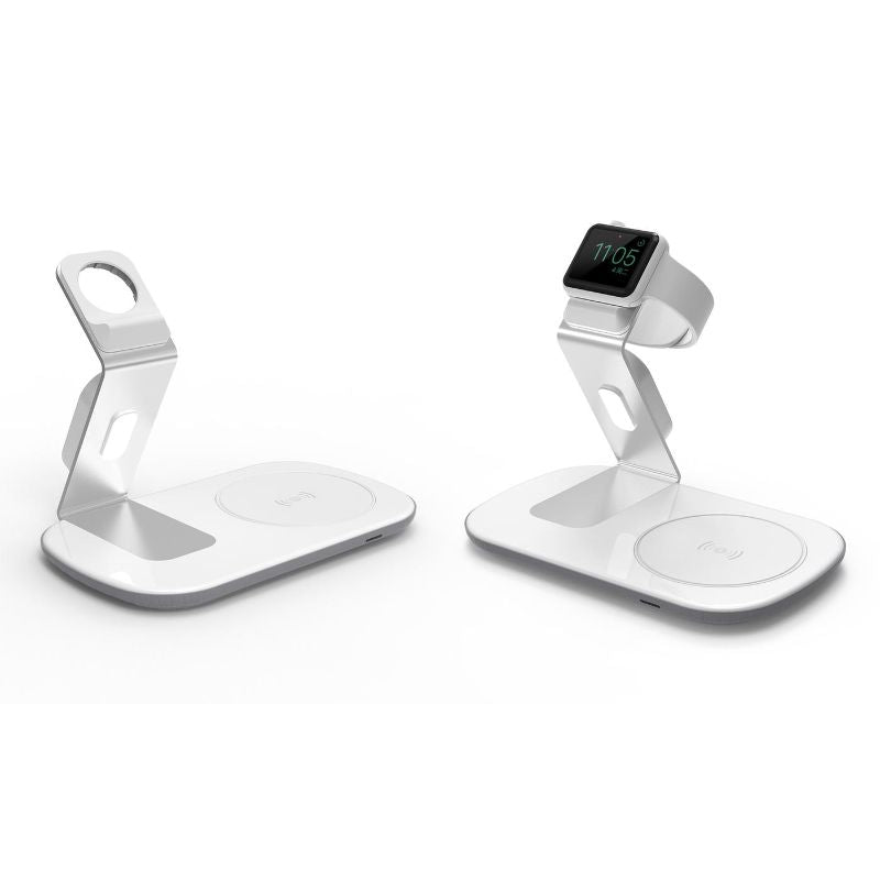 Wireless Charging Dock: Qi Wireless Charging Pad with Apple Watch Dock-White-Daily Steals