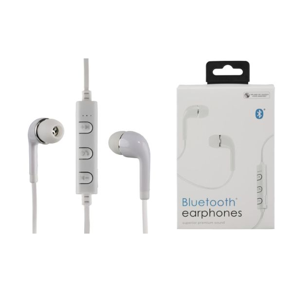 Vivitar In-Ear Wireless Bluetooth Earbuds with Mic-White-Daily Steals