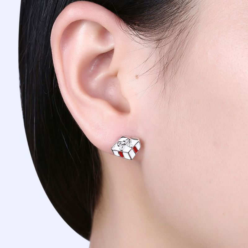 Santa Claus & His Presents Studs in 14K Gold Plating-Daily Steals