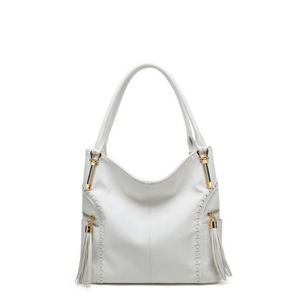 MKF Collection Betsy Shoulder Bag by Mia K. Farrow-White-Classic-Daily Steals