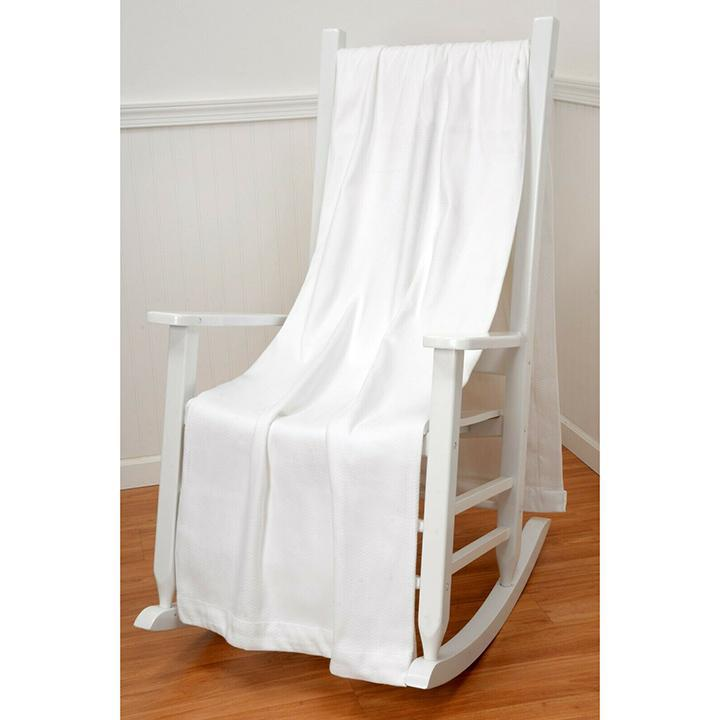 "100% Cotton Weave Soft 50"" x 60"" All-Season Throw Blanket-White-Daily Steals"