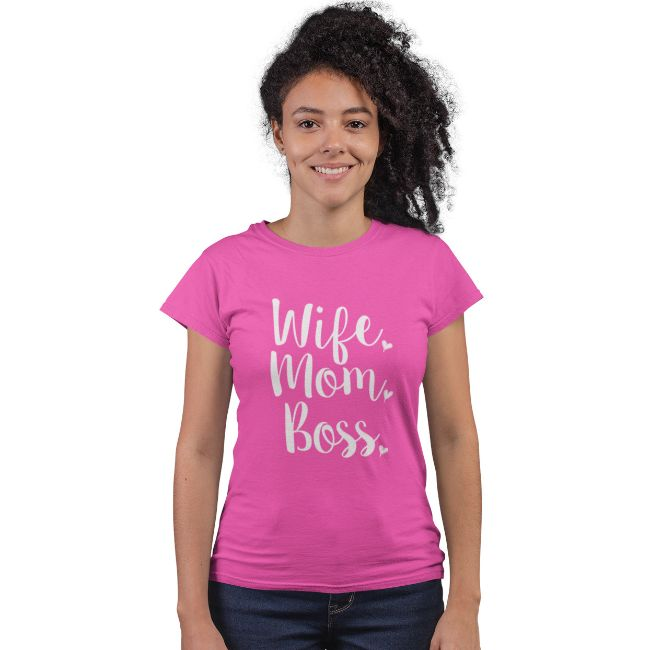 "Funny Mother's Day ""Wife Mom Boss"" T-Shirt-Daily Steals"