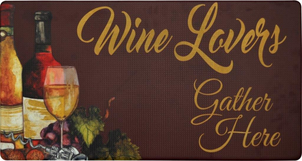 Oversized 20-Inch x 39-Inch Anti-Fatigue Embossed Floor Mat-WINE LOVERS-Daily Steals