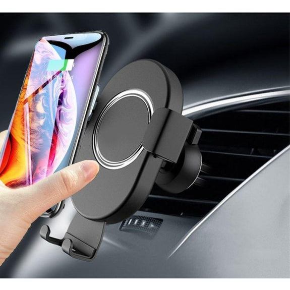 Wireless Car Charger & Mount for iPhone, Samsung and all Qi Devices - 1 or 2 Pack-2 Pack-