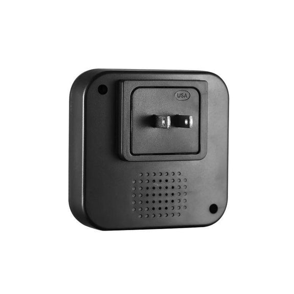 Wireless Doorbell Ringer, IP55 Waterproof, 55 Chimes 1 or 2 Receivers-1 Receiver-