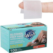 Wish Alcohol Prep Pads - 100 or 200 Pack-100 Pack-