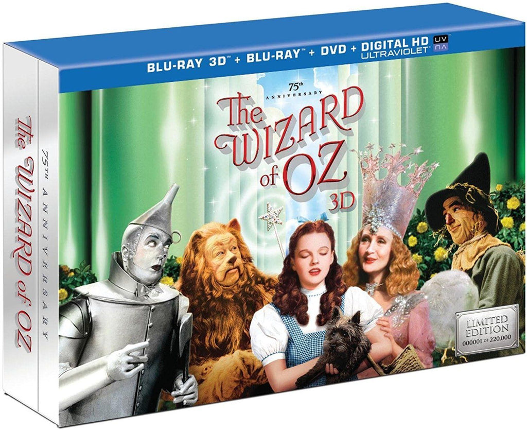 Wizard of Oz: 75th Anniversary [Collector's Edition] [5 Discs] [UltraViolet] [3D] [Blu-ray/DVD] [Blu-ray/Blu-ray 3D/DVD]-Daily Steals