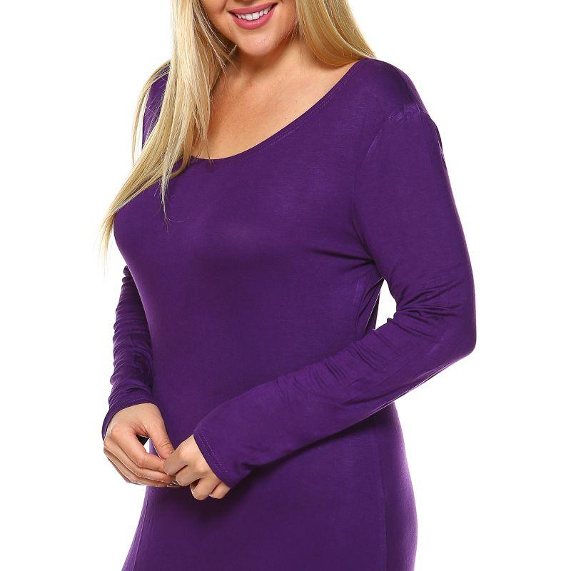 Women' Plus Size Ria Dress by Whitemark-Burgundy-3X-Daily Steals