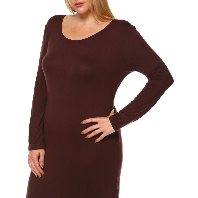 Women' Plus Size Ria Dress by Whitemark-Coffee-2X-Daily Steals