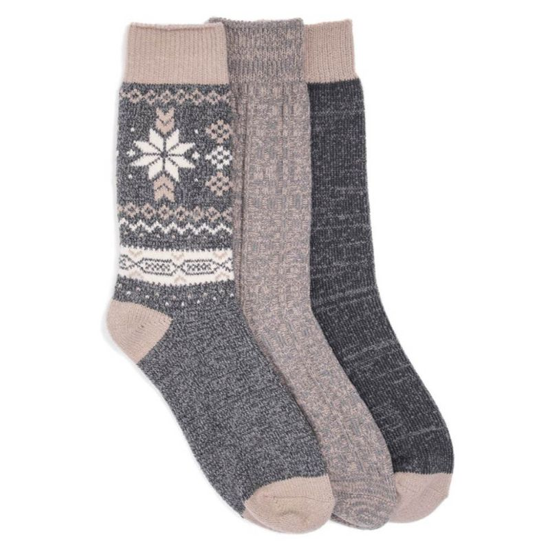 Women's 3 Pair Pack Boot Socks-Daily Steals