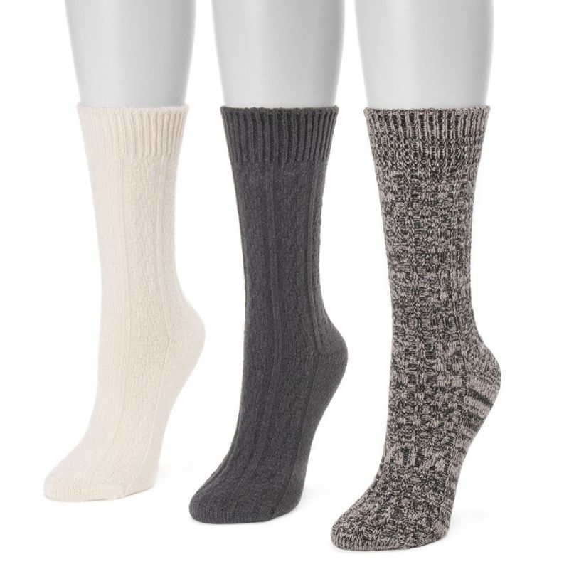 Women's 3 Pair Pack Boot Socks-Midnight-Daily Steals