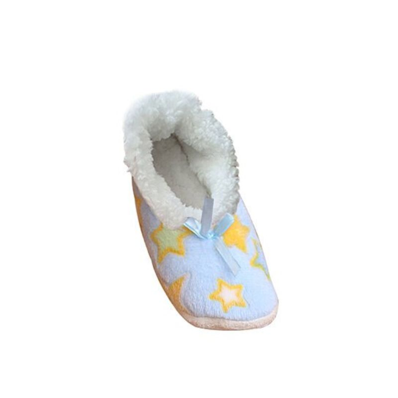 Women's Cozy Sherpa House Slipper Socks With Anti-Skid Soles