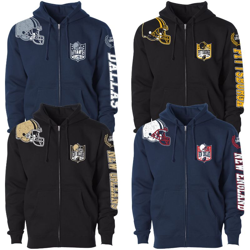 Women's Football Home Team Zip Up Hoodie-Daily Steals