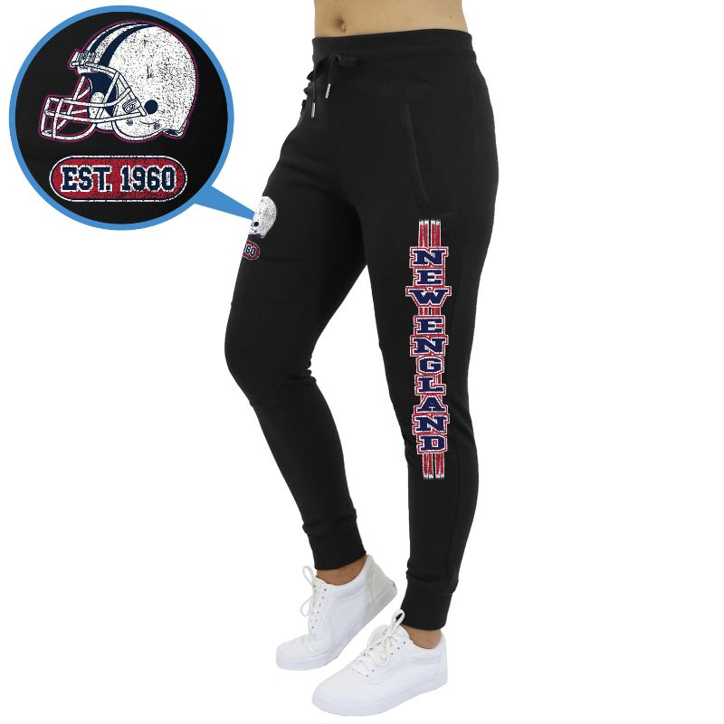 Women's Football Team Jogger Sweatpants-New England - Black-M-Daily Steals