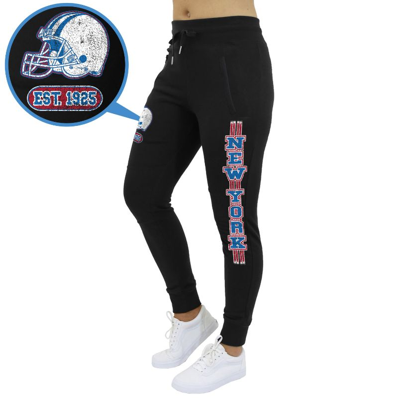 Women's Football Team Jogger Sweatpants-New York - Black-2XL-Daily Steals