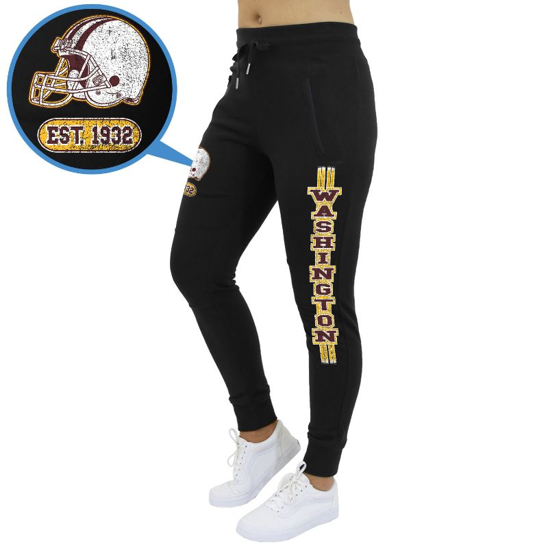 Women's Football Team Jogger Sweatpants-Washington - Black-S-Daily Steals
