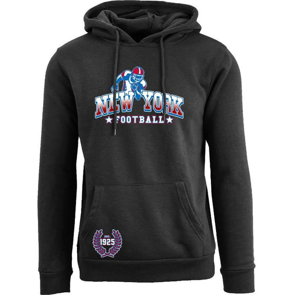 Women's Greatest Football Legends Pull Over Hoodie-New York - Black-S-Daily Steals