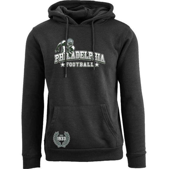 Women's Greatest Football Legends Pull Over Hoodie-Philadelphia - Black-S-Daily Steals