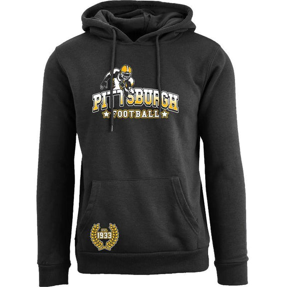 Women's Greatest Football Legends Pull Over Hoodie-Pittsburgh - Black-S-Daily Steals