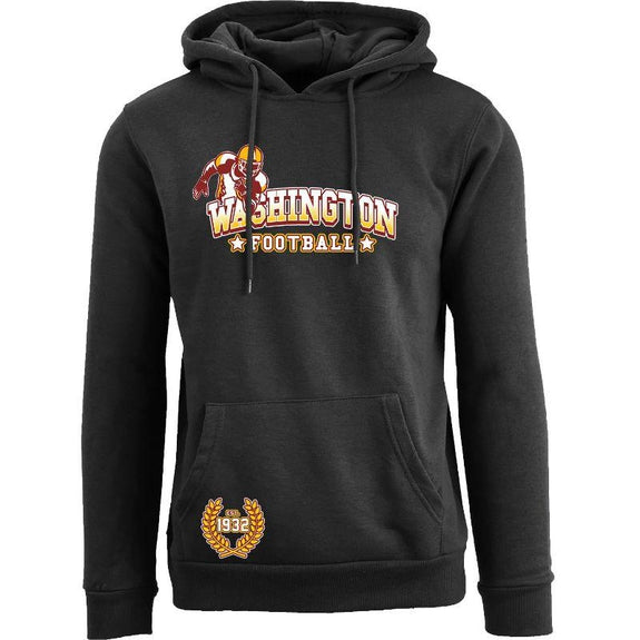 Women's Greatest Football Legends Pull Over Hoodie-Washington - Black-S-Daily Steals