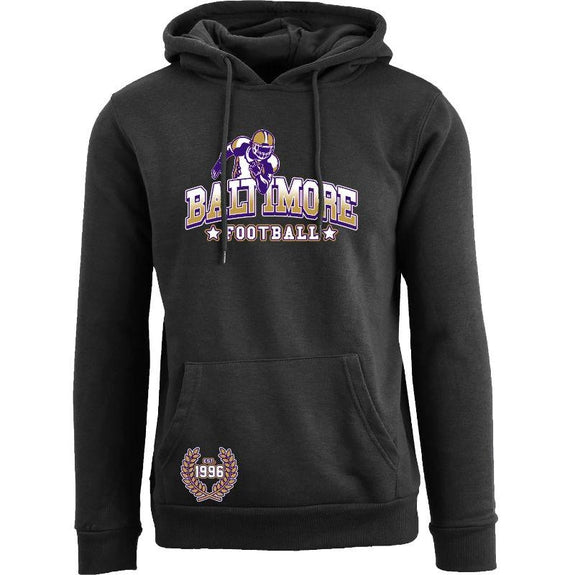 Women's Greatest Football Legends Pull Over Hoodie-Baltimore - Black-S-Daily Steals