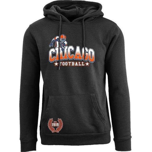 Women's Greatest Football Legends Pull Over Hoodie-Chicago - Black-M-Daily Steals