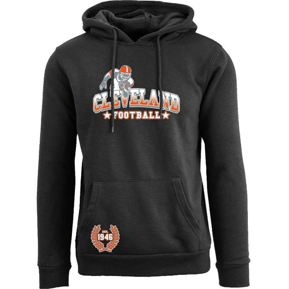 Women's Greatest Football Legends Pull Over Hoodie-Cleveland - Black-S-Daily Steals