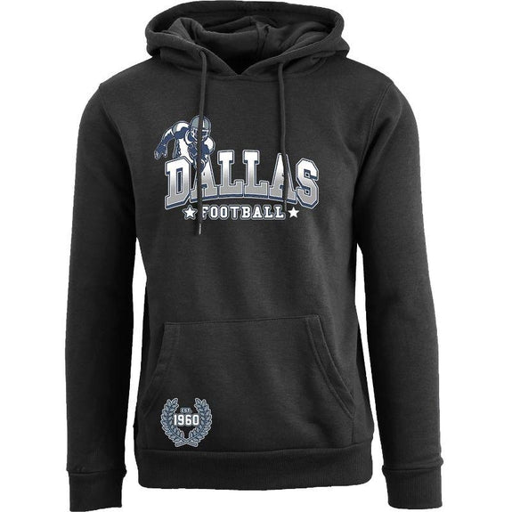 Women's Greatest Football Legends Pull Over Hoodie-Dallas - Black-S-Daily Steals