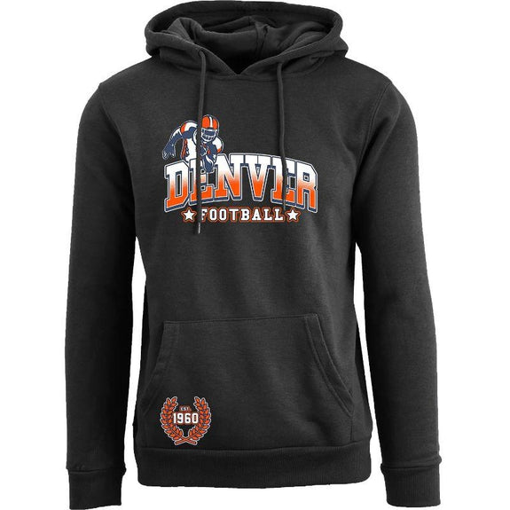Women's Greatest Football Legends Pull Over Hoodie-Denver - Black-S-Daily Steals