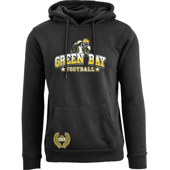 Women's Greatest Football Legends Pull Over Hoodie-Green Bay - Black-M-Daily Steals