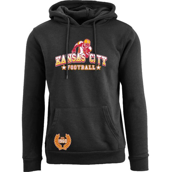 Women's Greatest Football Legends Pull Over Hoodie-Kansas City - Black-S-Daily Steals