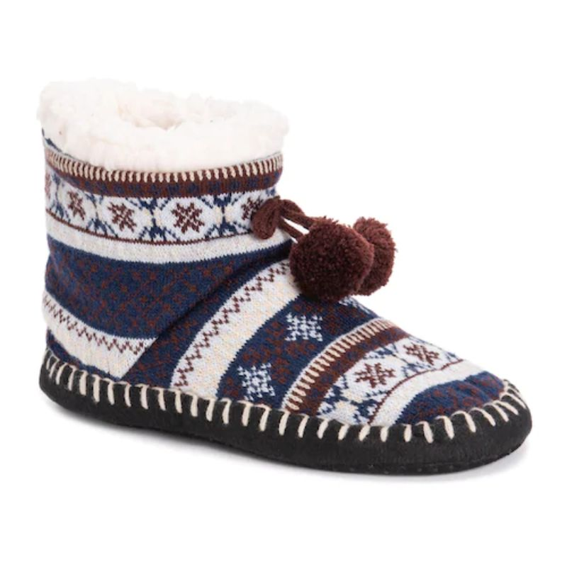 Women's MUK LUKS Bootie Slippers-Blue-S/M (5-7)-Daily Steals