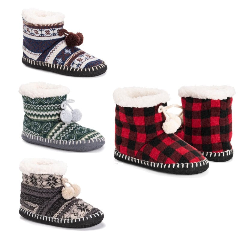 Women's MUK LUKS Bootie Slippers-Daily Steals
