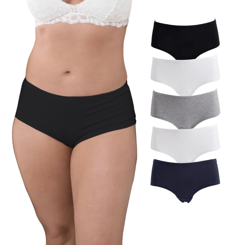 Women's Plus Size Hipster Panties - 5 Pack-XL-Daily Steals