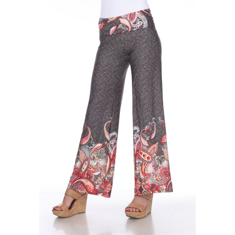 Women's Printed Palazzo Pants - Hot Paisley-S-Daily Steals