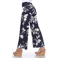 Women's Printed Palazzo Pants - Icy Navy-Daily Steals