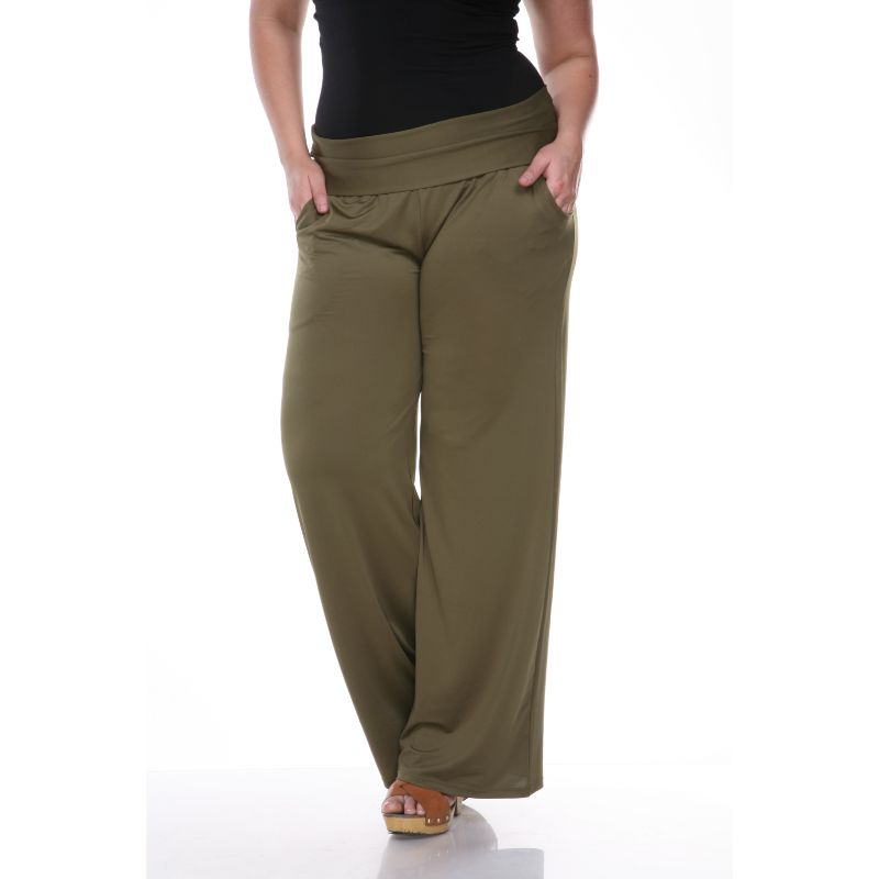 Women's Printed Palazzo Pants - Olive-XL-Daily Steals