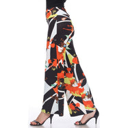 Women's Printed Palazzo Pants - Orange & Yellow Citrus-Daily Steals