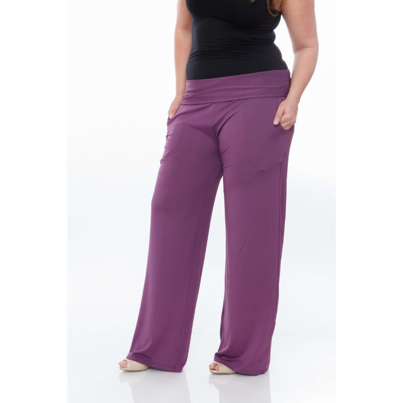 Women's Printed Palazzo Pants - Purple-Daily Steals