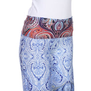 Women's Printed Palazzo Pants - Sleepy Blue-Daily Steals