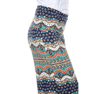 Women's Printed Palazzo Pants - Swimmers Teal & Navy-Daily Steals