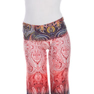 Women's Printed Palazzo Pants - Tingle Red-Daily Steals