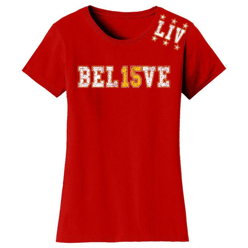 T-shirts et manches longues Champions de football 2020 pour femme - Kansas City-BEL15VE - Red-T-Shirt-S-Daily Steals