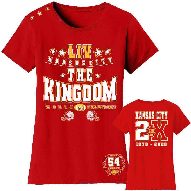 T-shirts et manches longues Champions de football 2020 pour femme - Kansas City-The Kingdom - Red-T-Shirt-M-Daily Steals