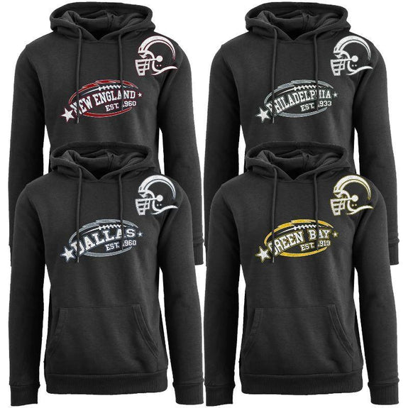 Women's All-Star Football Pull Over Hoodie-Daily Steals